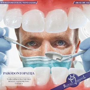 Parodontopatija je oboljenje praćeno stvaranjem džepova, krvarenjem desni, neprijatnim zadahom i klaćenjem zuba.