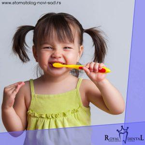 Kada pravilno održavanje oralne higijene postane deo rutine, smanjuje se učestalost pojave karijesa i parodontopatije u odrasloj dobi